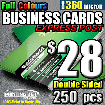 Business Cards 250pcs Double Sided 360 micron Thick Business Card Printing