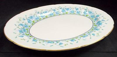 "Coalport HAREBELL TURQUOISE 14.75"" Platter Bone China 9236 GREAT CONDITION"
