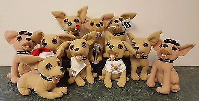 Lot of 10 Taco Bell Chihuahuas Plush *Some Make Sound, Some Don't*