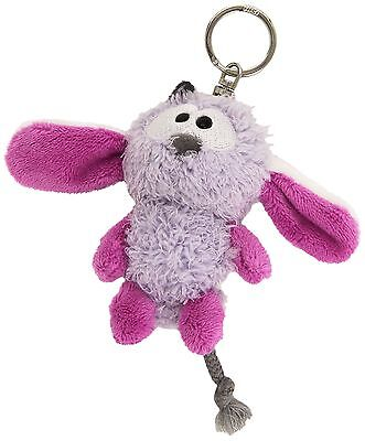 NICI Lilac Monster Bean Bag Keyring