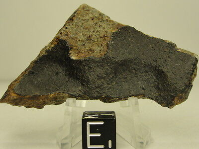 Bechar Official Classified L6 Meteorite 1998 - BCH-0031 - 37.81g Crusted End Cut