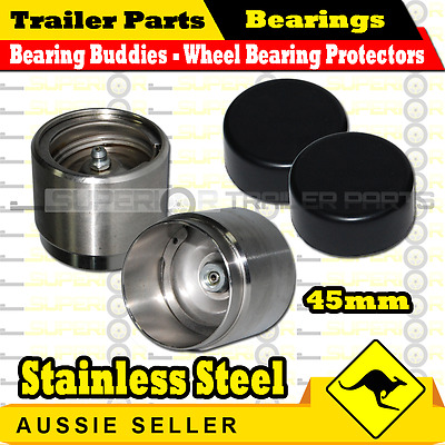 Bearing Buddies STAINLESS STEEL Wheel Bearing Protectors (pair)