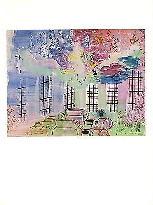"""1954 Vintage Full Color Art Plate /""""YELLOW CONSOLE w// VIOLIN/"""" by DUFY Lithograph"""