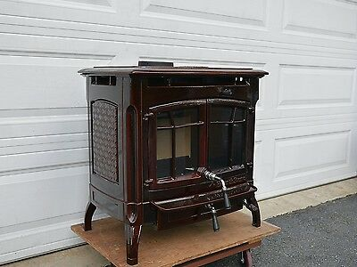 Hearthstone Bennington Wood Stove Fireplace Insert Woodstove - HEARTHSTONE Wood Burning Stove Burner SOAPSTONE Fireplace