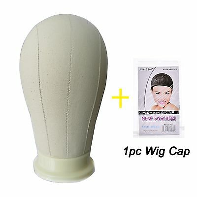 """21/22/23/25"""" Canvas Block Head Hair For Wig Making Water Repellant Mannequin"""