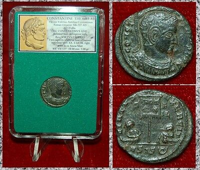 Ancient Roman Empire Coin Of CONSTANTINE THE GREAT Two Captives Museum Quality!