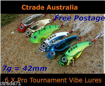 Vibe Fishing Lures Switch blade Lure 6 Pack Pro Tournament Flathead Bream7g 42mm