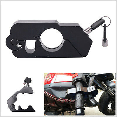 Black Caps-Lock Motorcycle Handlebar Brake lever Grip Security Lock Anit Theft