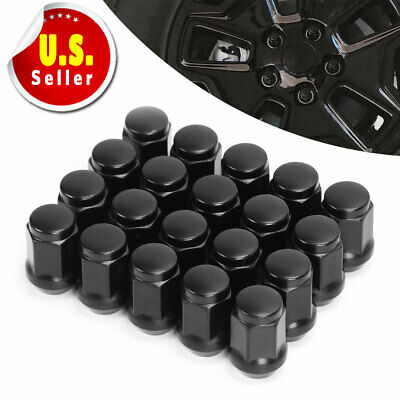 20 Black 6 Spline Tuner Racing 12x1.5 Lug Nuts + 1 Key Fits Honda Acura Toyota