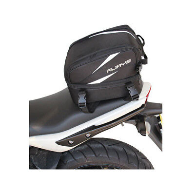 Rjays Adventurer Sports Bike Motorcycle Seat Expandable Bag Black