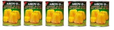 5x Aroy-D Yellow Jack Fruit in Syrup 565g Sweet Tropical Fruit Dessert