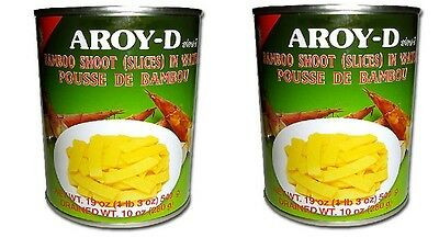 2x Aroy-D Bamboo Shoot Slice Canned 540g Food Rebung Bambu Muda