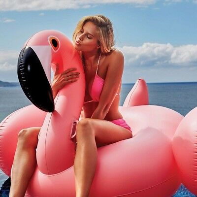 New Giant Inflatable Pink Flamingo Swan Ride On Pool Float Toy bonus mini toy