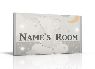 Personalised Door Sign / Name Plaque - Lullaby Moon Free P&p