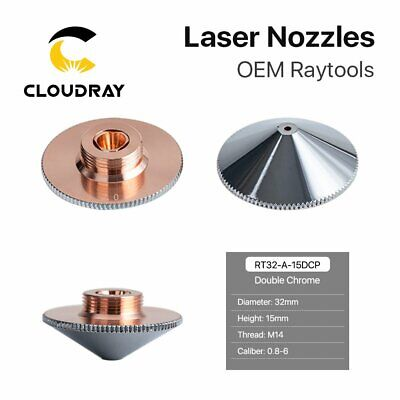 Fiber Laser Double Layers Nozzle Chrome-plating Dia.32mm H.15mm for Laser Head