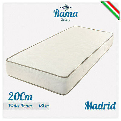 Materasso Singolo 80X190 Alto 20 Cm In Waterfoam Ortopedico Anallergico Madrid