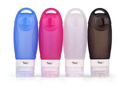 4PCS Silicone Squeezable Travel Bottles Shampoo Toiletry Washing Container 89ml