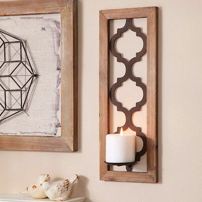 Better Homes and Gardens Quatrefoil Wall Sconce, Bronze Candle Lighting Decor