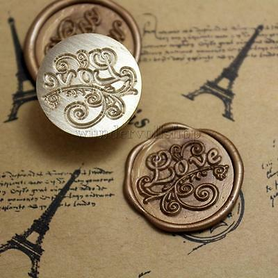 """ Love "" Muster Siegelstempel Petschaft Wax Seal Stamp Grüße Briefmarken"