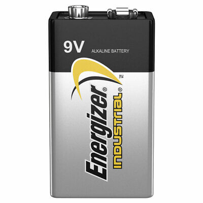 1 x Energizer 9V battery Industrial 6LR61 Block PP3 6LP3146 MN1604 EXP:2021