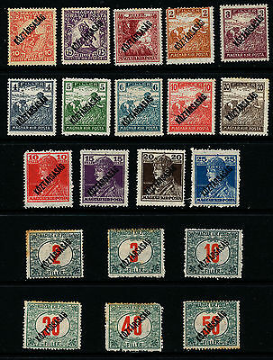 G579  Hungary Collection Of 24 Mint Stamps Issued In 1918