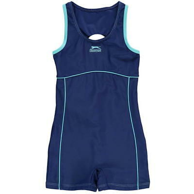 Girls Slazenger Boyleg Swimming Costume Swimsuit Shorts~Age 7-13 years