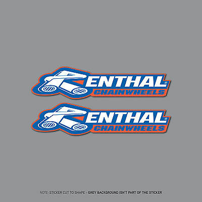 SKU2398 - Set Of 2 Renthal Chainwheel Stickers - 150mm x 35mm