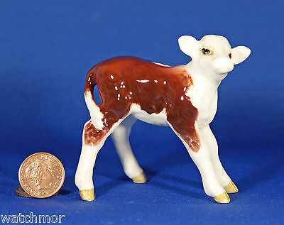 VINTAGE BESWICK HEREFORD CALF FIGURINE, MODEL 1406B, Issued 1957-75