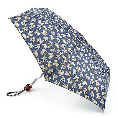 Cath Kidston by Fulton Tiny-2 Folding Umbrella - Billie Mid Blue - BNWT