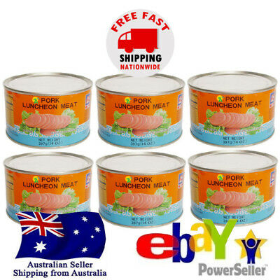 6x B2 Canned Pork Luncheon Meat round 397g