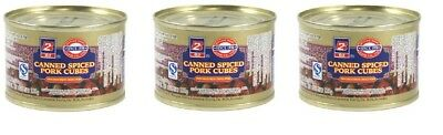 3x B2 Canned Spiced Pork Cubes 142g