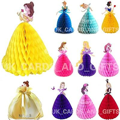 Princess Pop Up Greeting Card / Girl Birthday Card / Cake Topper / Personalised