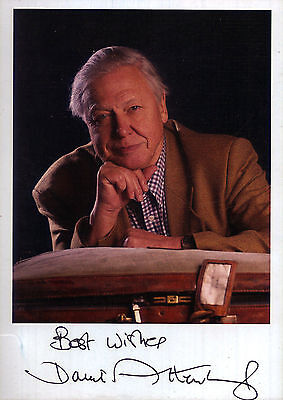 Sir David Attenborough Autograph Signed Photo Preprint Glossy Portrait Picture
