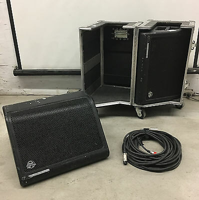 Clair Brothers 12AM Stage Monitor Pair with Road Case & Cables