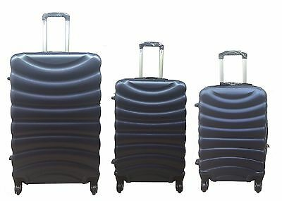 Hard Shell Navy 4 Wheel Spinner Suitcase ABS Luggage Cabin Case Carry On
