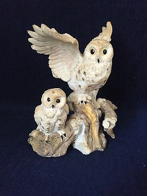 Decorative Pair Of Owls Figurine Collectible