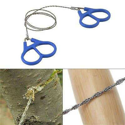 Emergency Survival Gear Outdoor Plastic Steel Wire Saw Ring Scroll Travel Campin