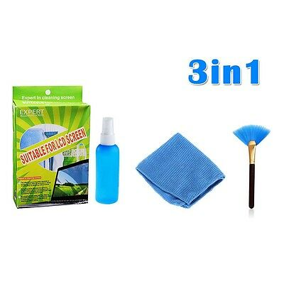3in1 PC TV Laptop LED LCD Monitor Screen Plasma Cleaner Cleaning KIT Cloth Brush