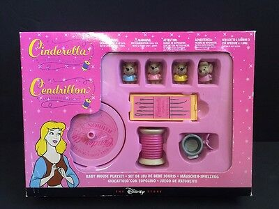 Disney Cinderella Baby Mouse Playset New Sewing Play Set Spool Figures HTF Rare