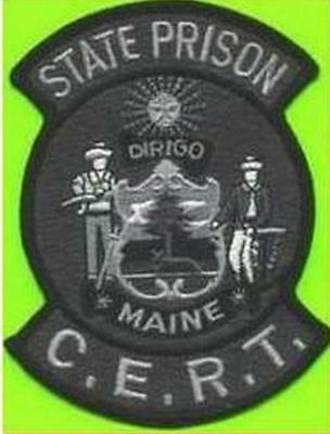 Maine State Prison Me Msp Cert Patch Gray Black Dirigo Jail Swat Tact