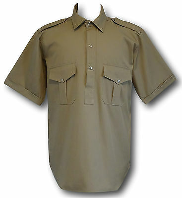 Traditional Boy Scout Uniform Short Sleeve Shirt With Epauletts & Breast Pockets