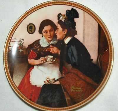 Gossiping in Alcove - KNOWLES Collector by PLATE Norman Rockwell P65 yy