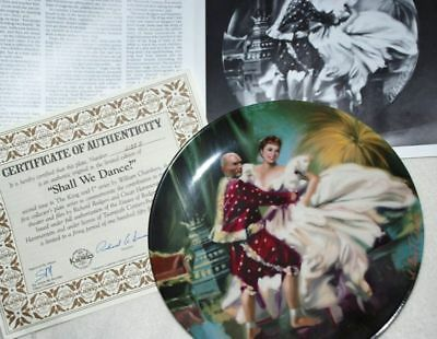 KNOWLES Collector PLATE - Shall WE Dance - by Chambers P49 yy