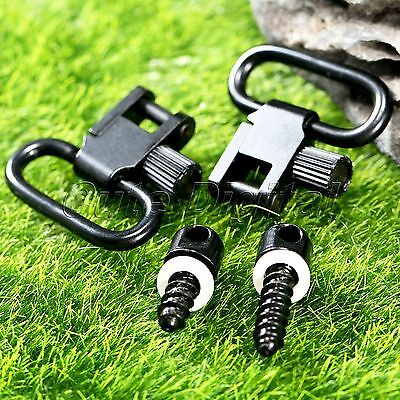 Hunting Quick Release Rifle Sling Mounting Kit Swivels Set with Studs Screw 2PCS