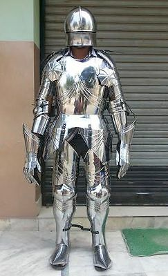 Gothic Knights Full Suit of  Armor Medieval 14 Century Replica Armoury