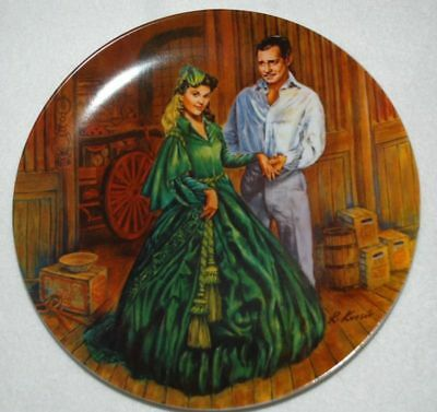 Scarlett O'Hara Green DRESS Gone With the Wind, KNOWLES Collector PLATE, P32 yy