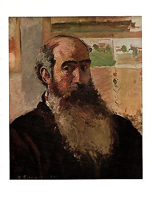 "1963 Vintage PISSARRO /""SELF PORTRAIT/"" #2 COLOR offset Lithograph"