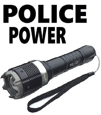 Stun Gun Zoomable Police 930 MILLION Volt POLICE Rechargeable + LED Flashlight