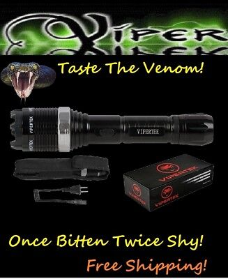Viper Black Silver 30  TV Metal POLICE Stun Gun +LED LIGHT+TASER HOLSTER