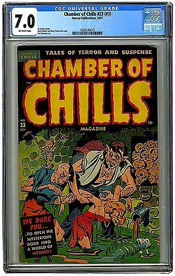 Chamber of Chills 23 (3rd issue) CGC 7.0 OW pages, Horror! Excessive Violence